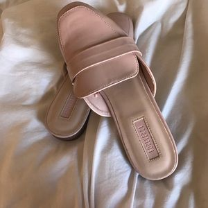 Blush pink loafers forever 21